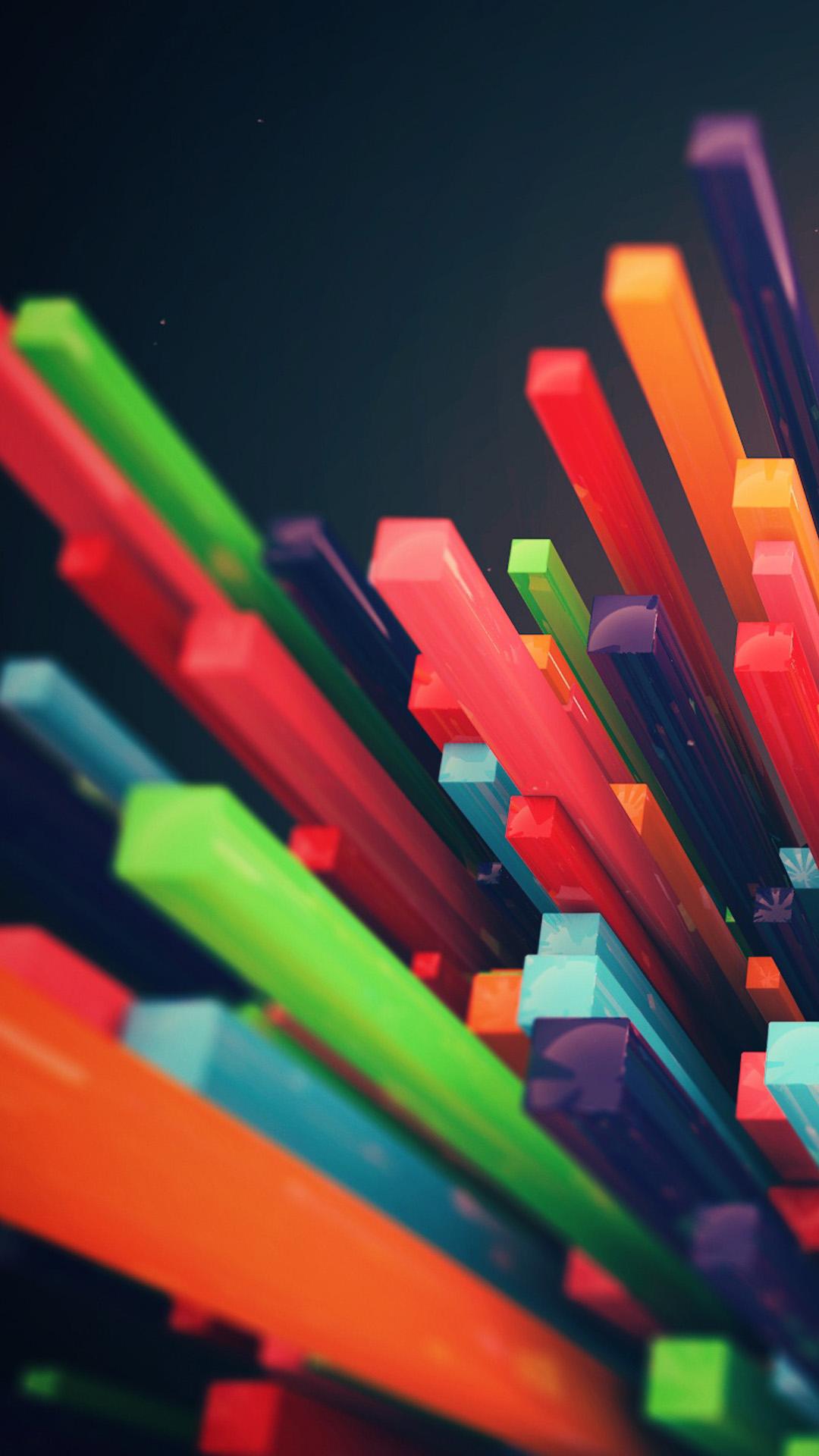 3D Color column 01 Galaxy S5 Wallpaper