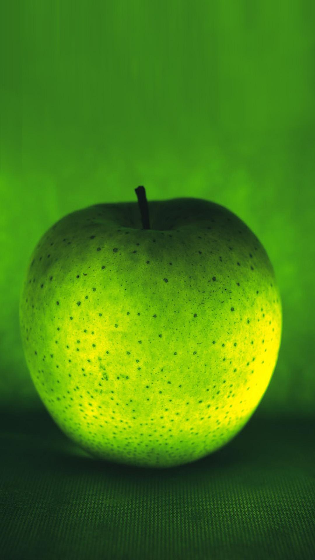 3D green apple Galaxy S5 Wallpaper