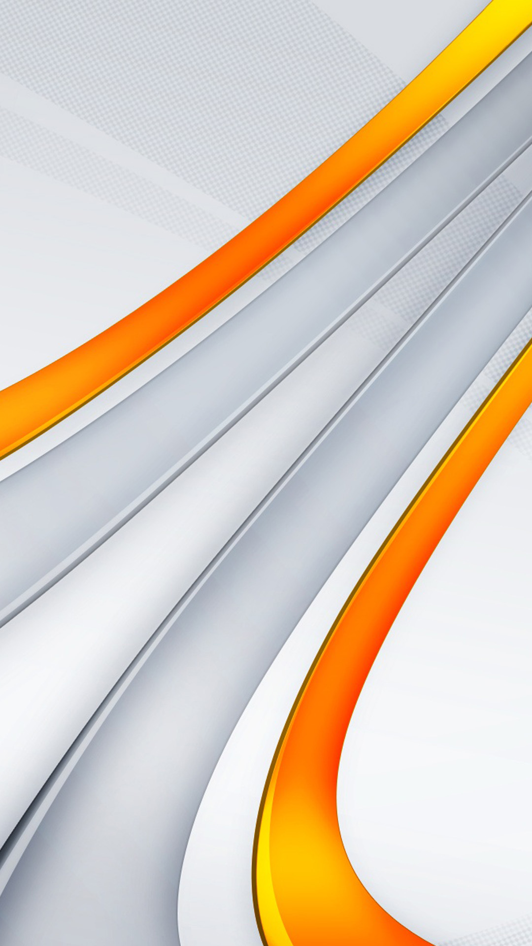 3D orange stripes Galaxy S5 Wallpaper
