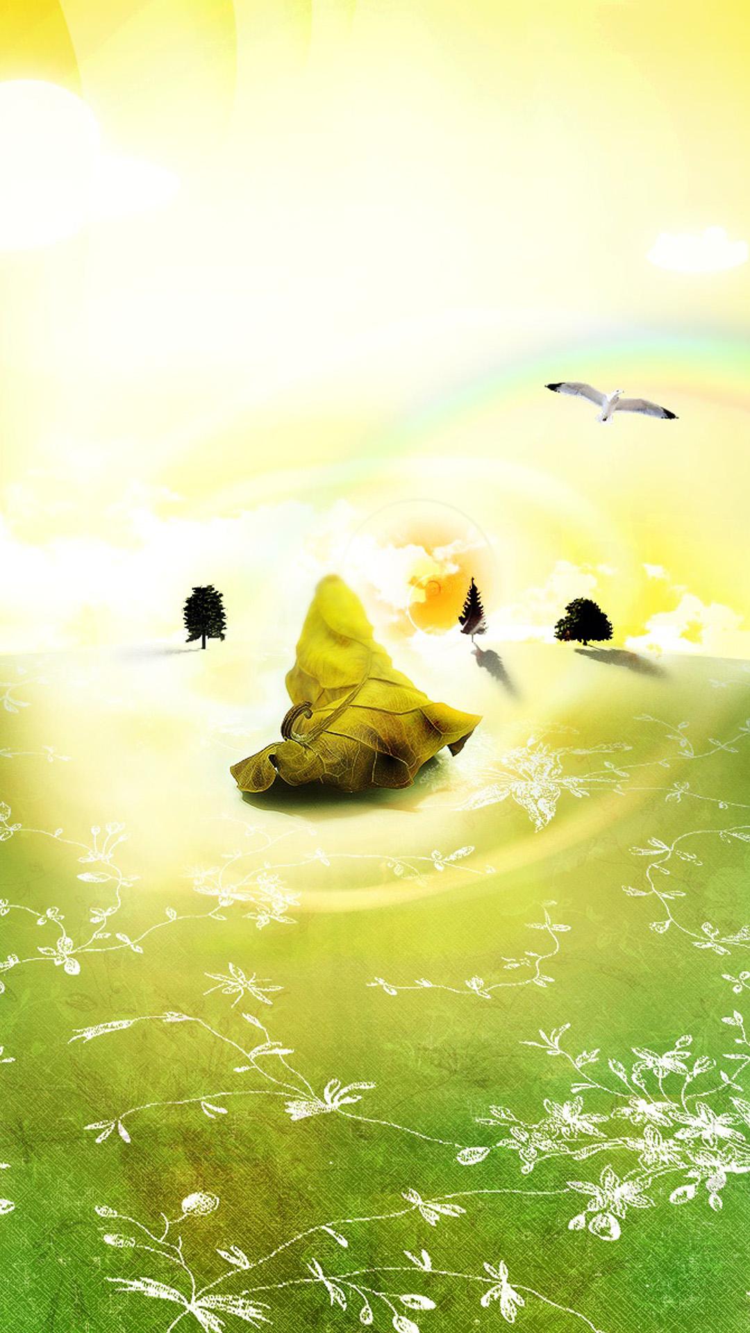 Creative rainbow Galaxy S5 Wallpaper