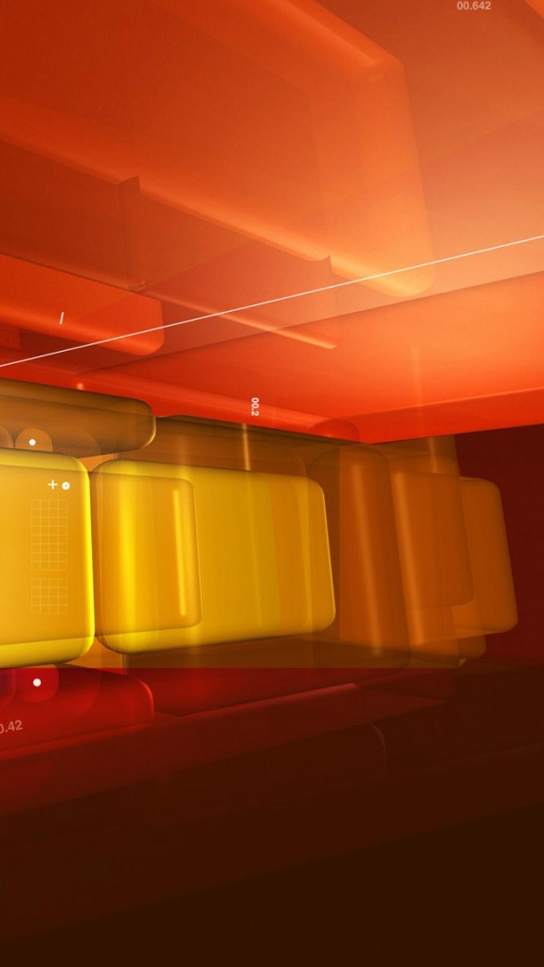 Orange tech design 2 Galaxy S5 Wallpaper