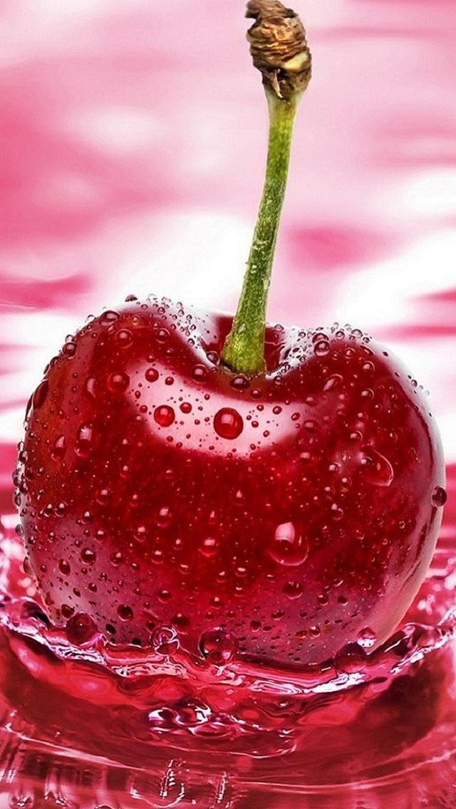 IPhone 5 Nature HD Wallpaper Cherry