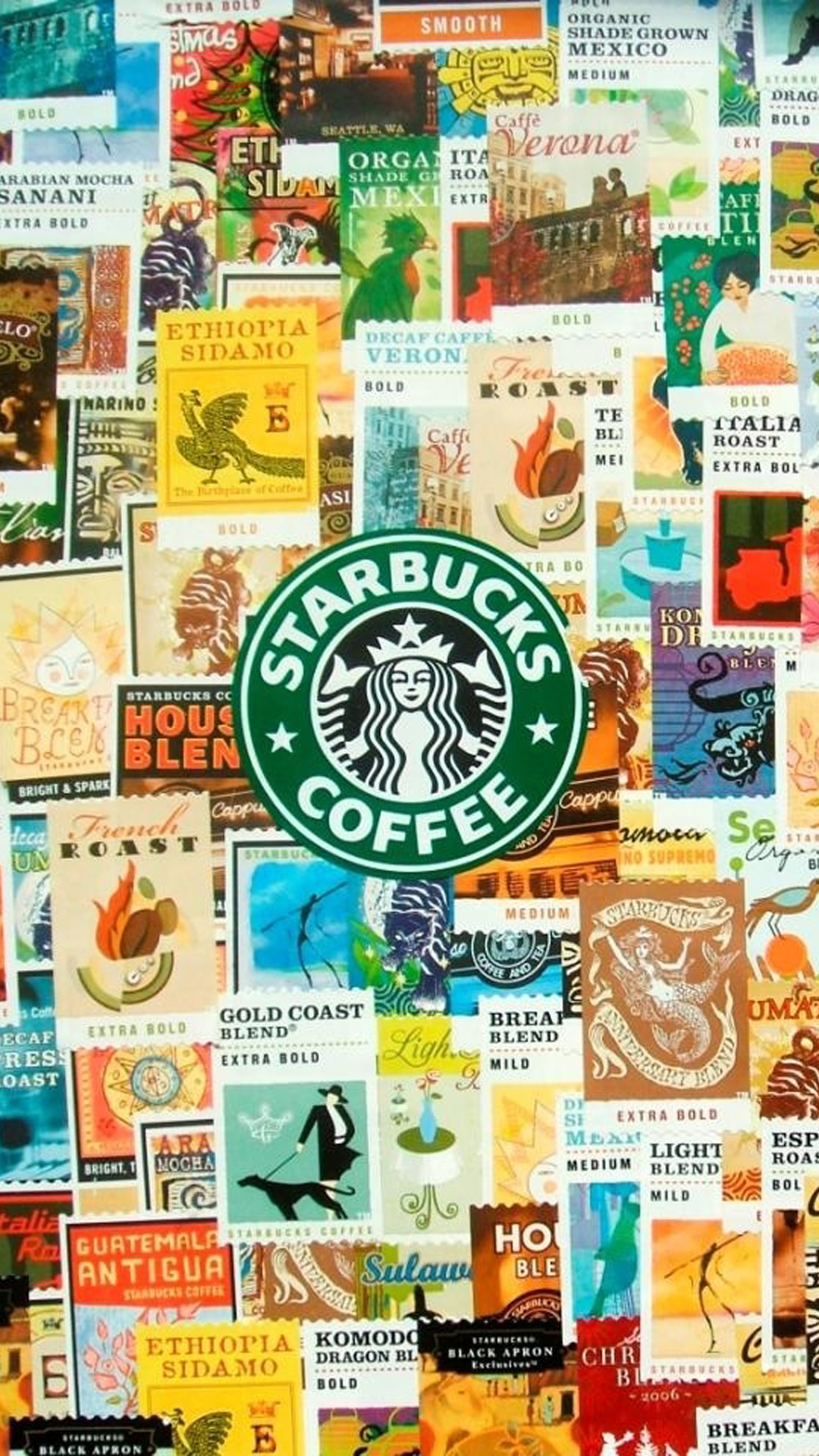 Coffee Collage Hd Wallpaper Iphone 6 Plus