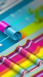 Colorful ruffles iPhone 6 plus Wallpaper