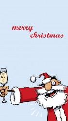 Funny Alcoholic Santa HD Wallpaper iPhone 6 plus