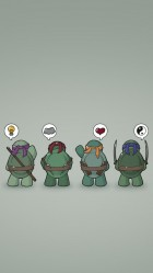 Funny Teenage Mutant Ninja Turtles HD Wallpaper iPhone 6 plus