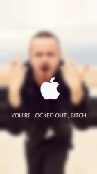 Funny You are Locked Out Bitch HD Wallpaper iPhone 6 plus