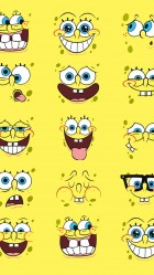 Spongebob faces HD Wallpaper iPhone 6 plus