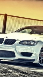 White BMW M3 HD Wallpaper iPhone 6 plus