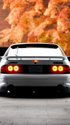 White mazda rx7 rear HD Wallpaper iPhone 6 plus