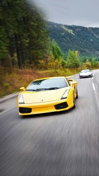 Yellow Lamborghini gallardo HD Wallpaper iPhone 6 plus