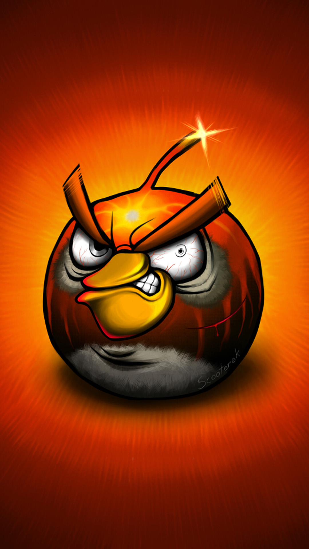 angry bird closeup red android wallpaper hd wallpapers