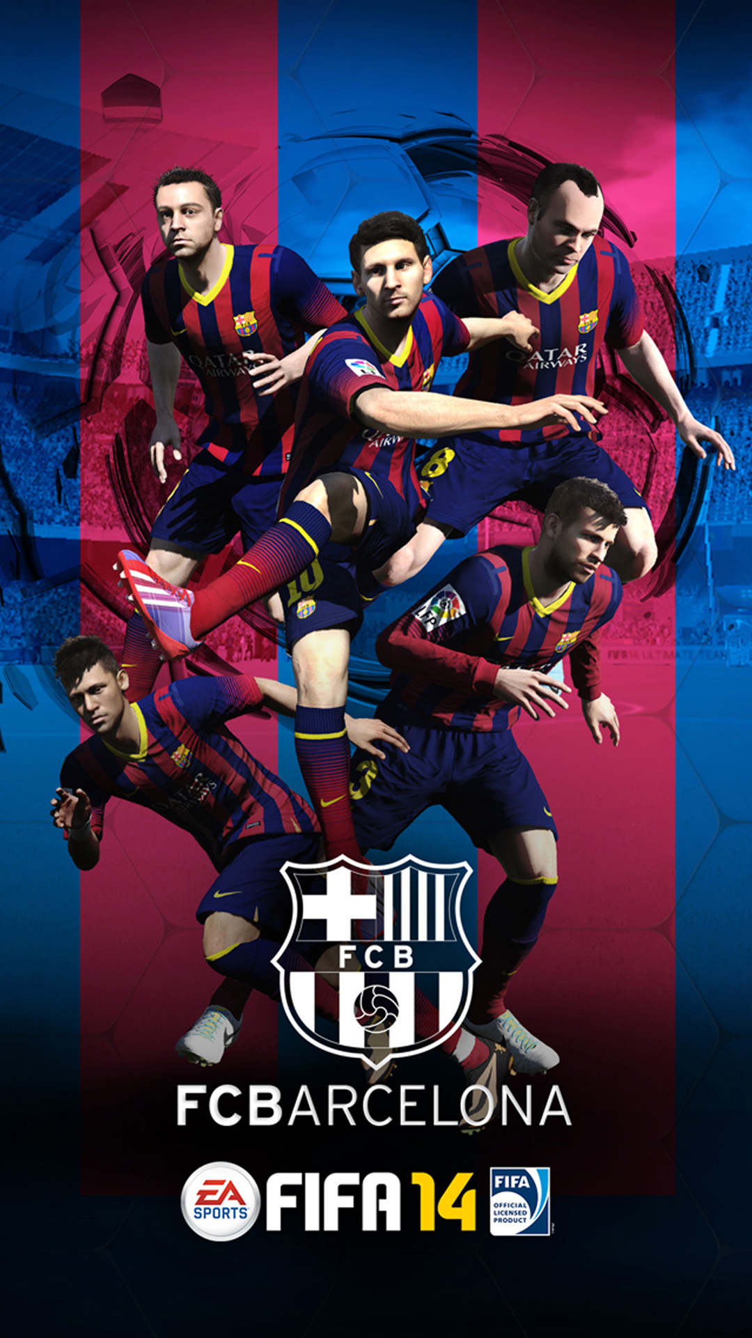 Wallpaper iphone barcelona - Iphone 6 Plus Fifa 14 Barcelona Hd Wallpaper