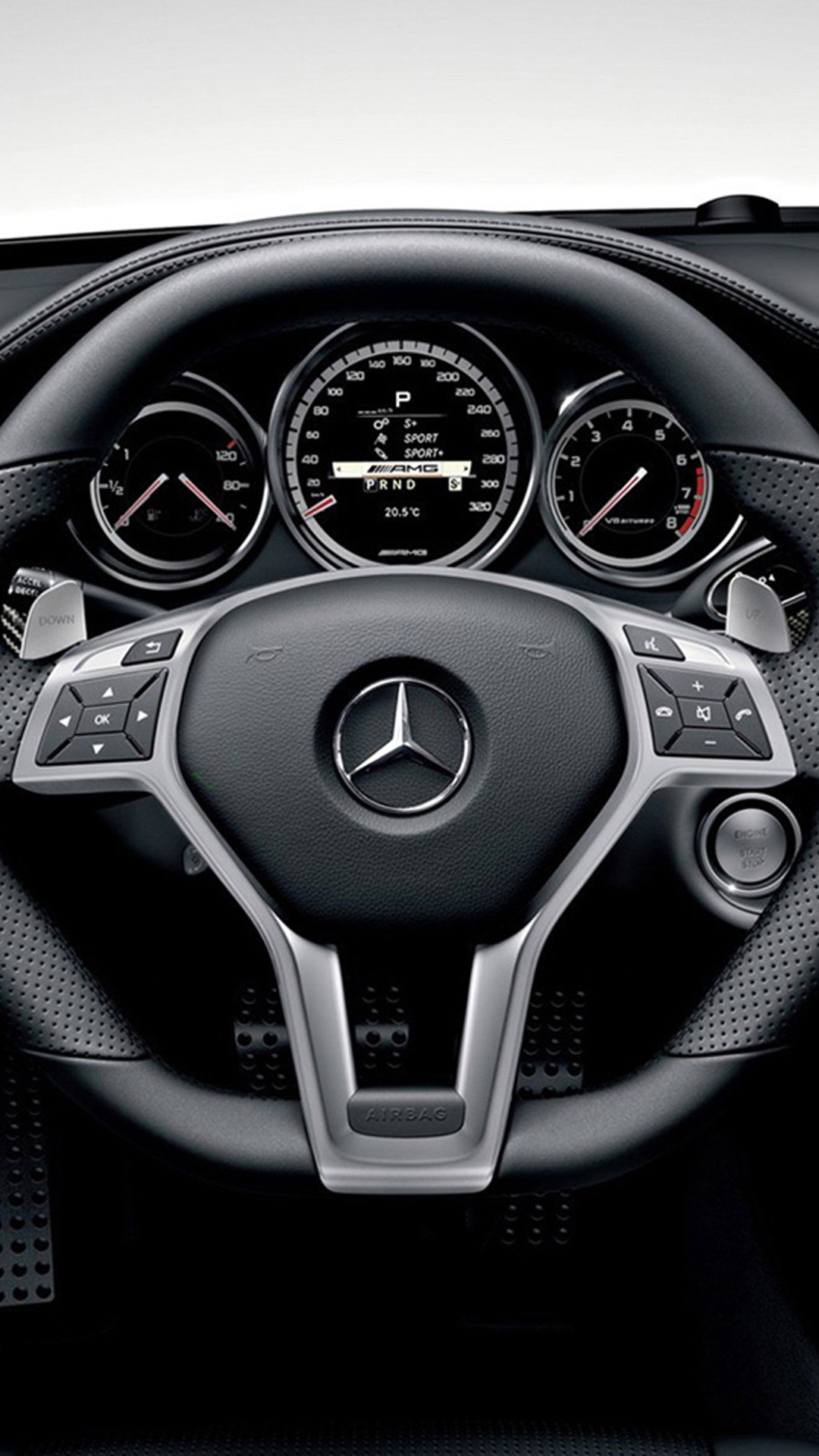 Mercedes benz cls63 amg interior hd wallpaper iphone 6 for Www mercedes benz mobile com iphone